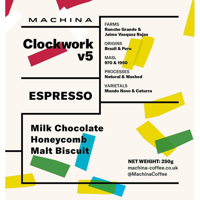 Machina Coffee - Clockwork Blend v5.5 - Espresso Coffee Beans - 250g