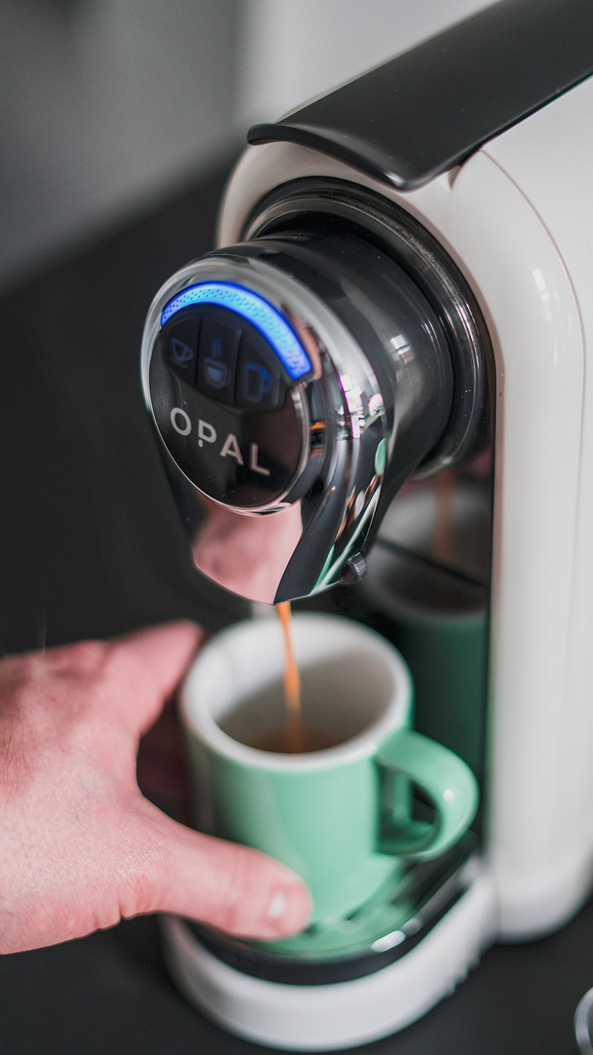 OPAL One Coffee Pod Machine (White) + 60 Coffee Pods