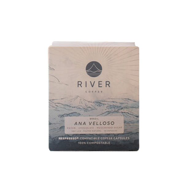 River Coffee Roasters - Sao Luiz Pulped Natural (Brazil) - 10 Compostable Coffee Pods