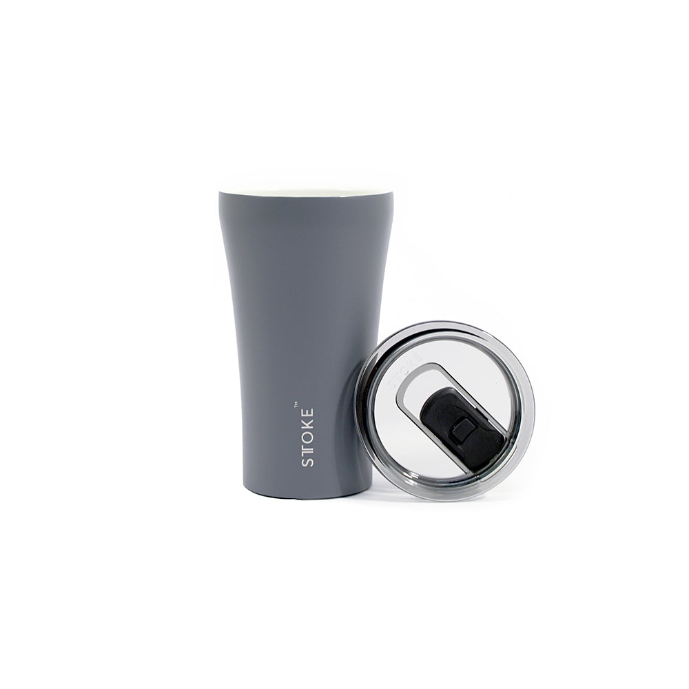 Sttoke Reusable Coffee Cup 12oz (Slated Grey)