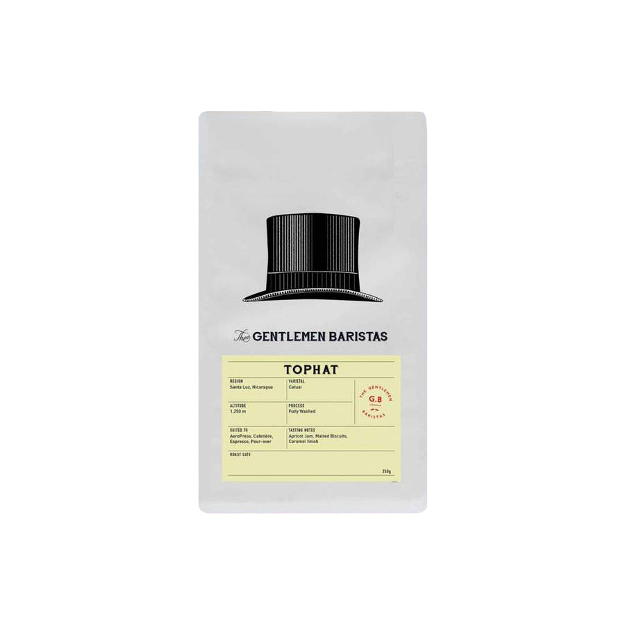 The Gentlemen Baristas - Top Hat - Single Origin - Nicaragua - Coffee Beans - 250g