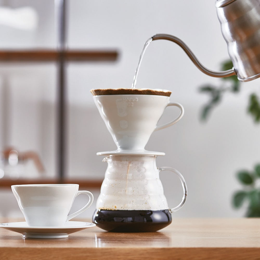 V60 Ceramic Coffee Dripper White 02