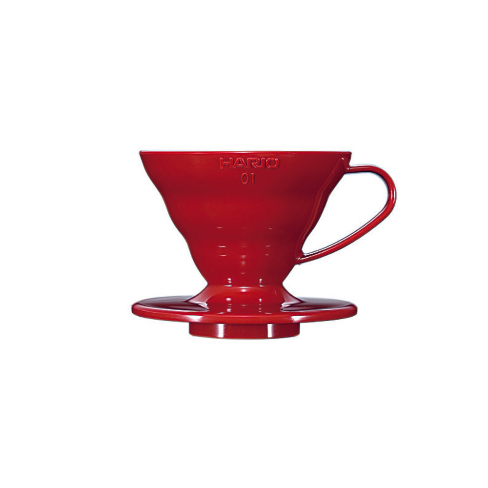 Hario V60 Plastic Coffee Dripper Red - Size 01