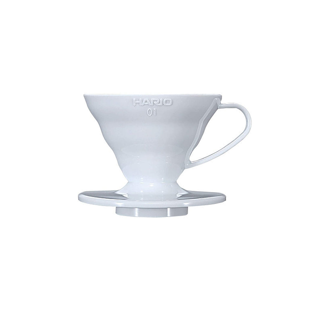 Hario V60 Plastic Coffee Dripper White - Size 01