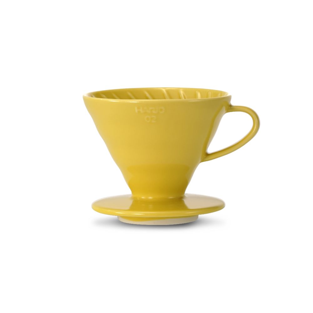 Hario V60 Ceramic Coffee Dripper Yellow - Size 02
