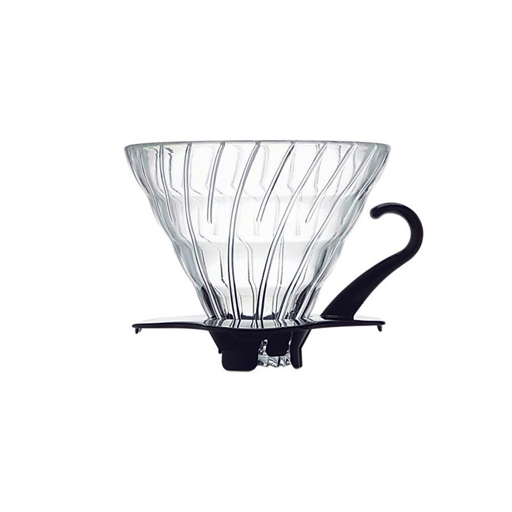 Hario V60 Glass Coffee Dripper Black Size 02