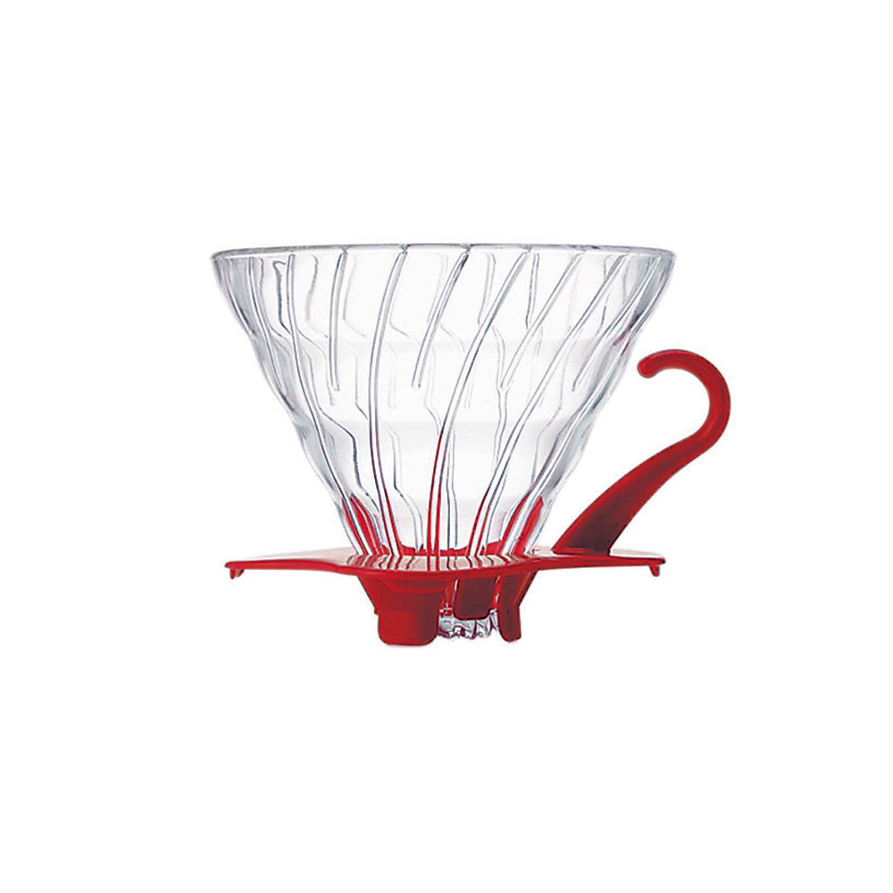 Hario V60 Glass Coffee Dripper Red - Size 02