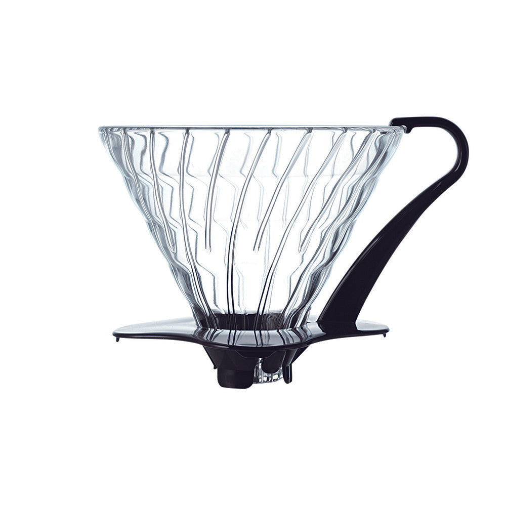 Hario V60 Glass Coffee Dripper Black - Size 03