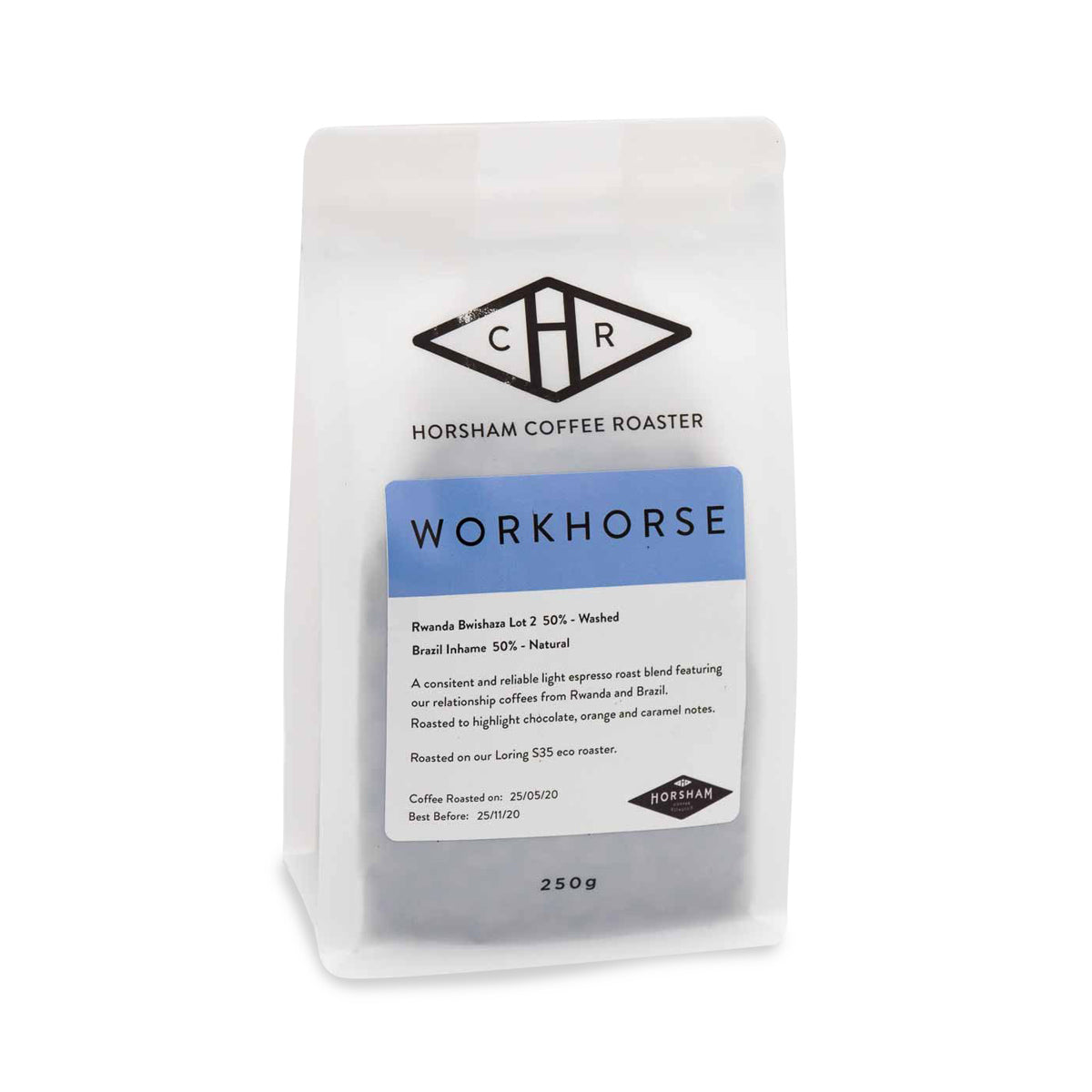 Horsham Coffee Roaster - Workhorse Espresso Blend Coffee Beans - 250g
