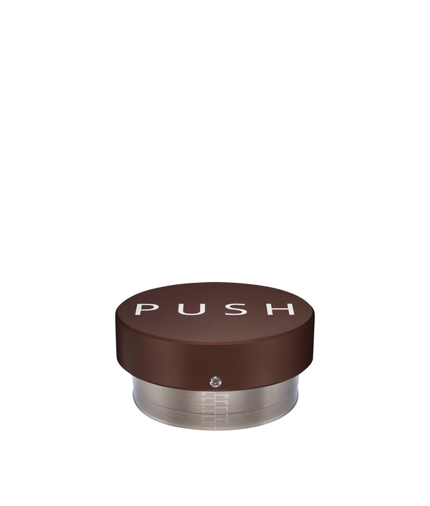 PUSH Adjustable Coffee Tamper - Brown