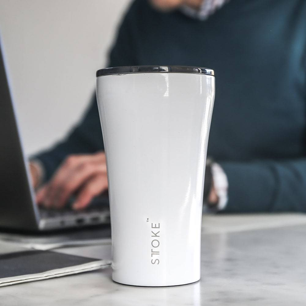 Sttoke Reusable Coffee Cup 12oz (Luxe Black)