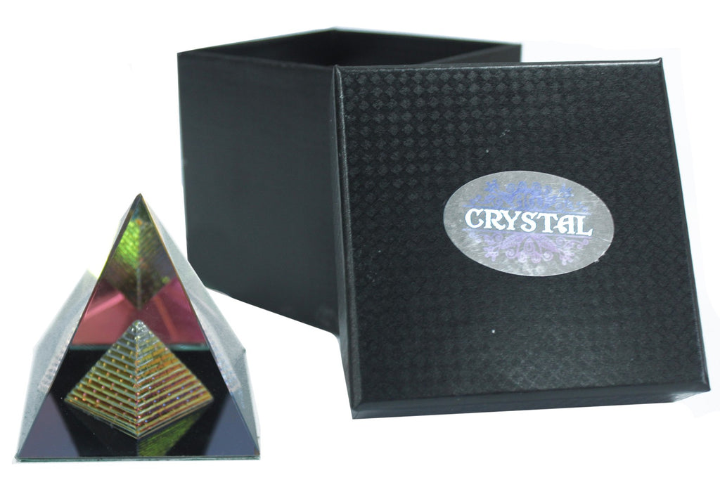 Double Pyramid 50 mm-Esoteric Crystal Pyramids