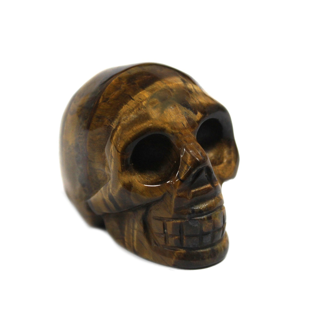 Gemstone Skull - Tiger Eye