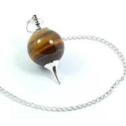 Tiger Eye Sphere Pendulum