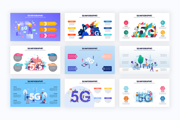5G Slide Infographic Templates