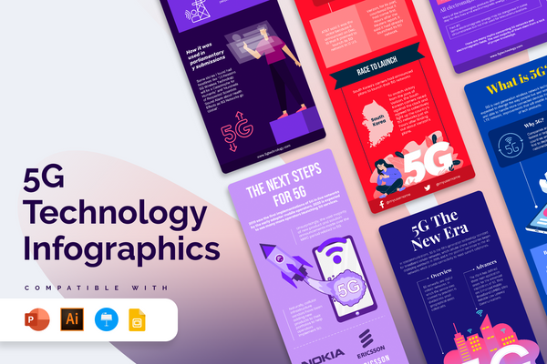 Vertical Infographic Templates Bundle (+Free Updates)
