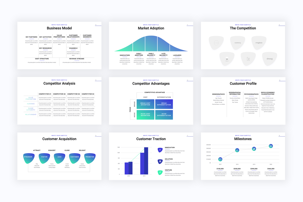 Accelerator Startup Keynote Template