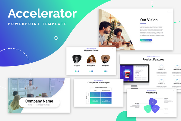 Accelerator Startup Powerpoint Templates