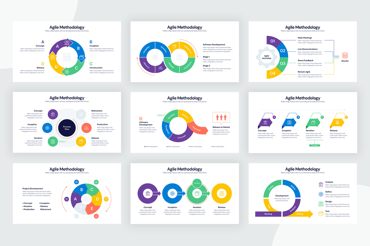 Agile Methodology Infographic Templates