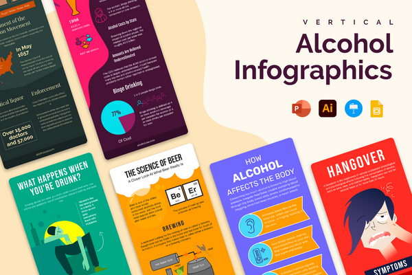 Alcohol Vertical Infographics