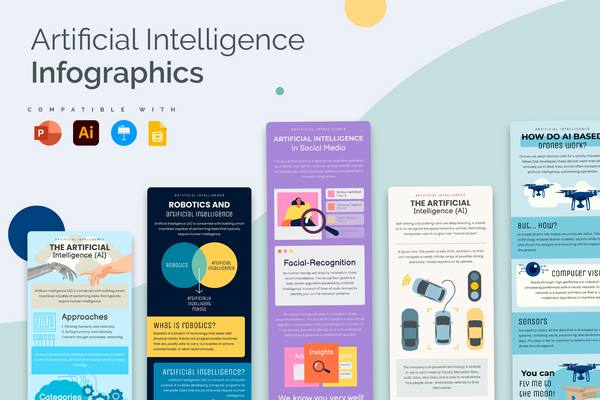 Artificial Intelligence Vertical Infographics