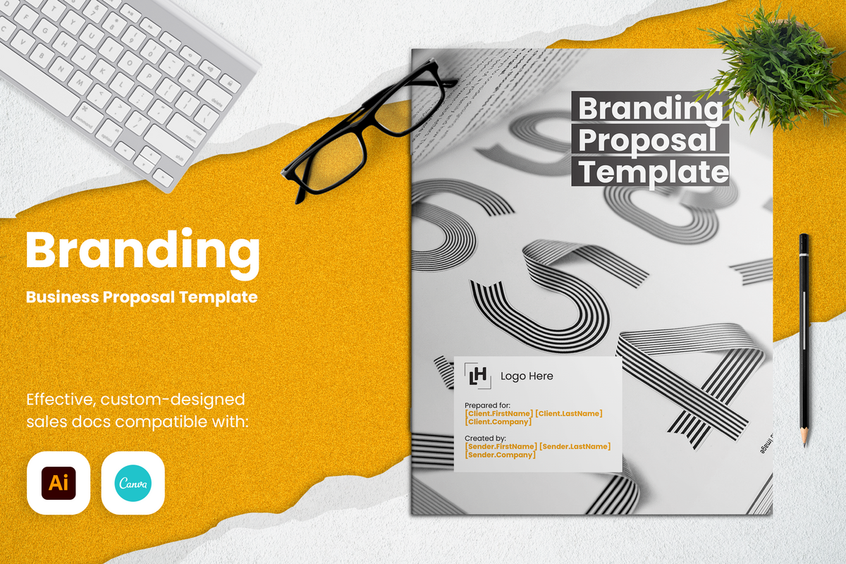 Branding Proposal Template for CANVA & ILLUSTRATOR