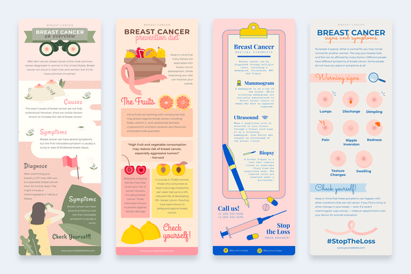 Breast Cancer Vertical Infographics