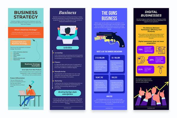 Business Vertical Infographics