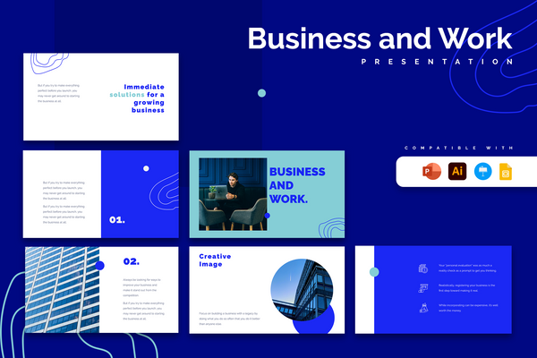 Multidecks Bundle Vol 1 - Powerpoint | Keynote | Illustrator | Google Slides