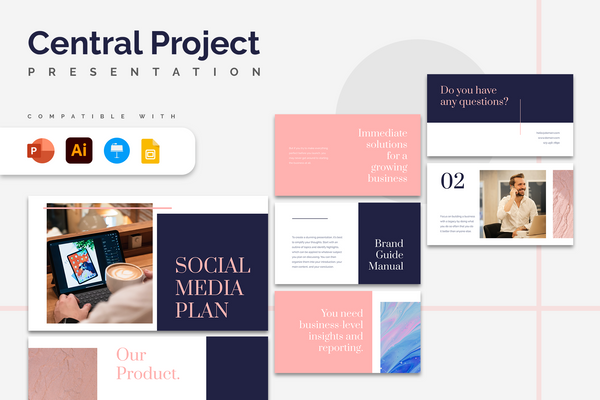 Central Project Presentation Templates