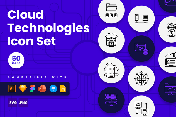 Cloud Technologie Icons