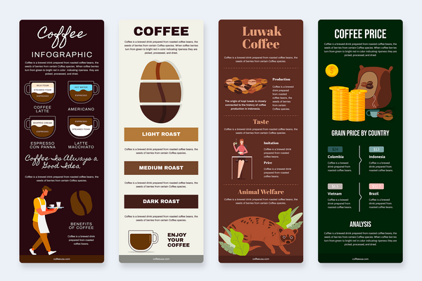 Coffee Vertical Infographics