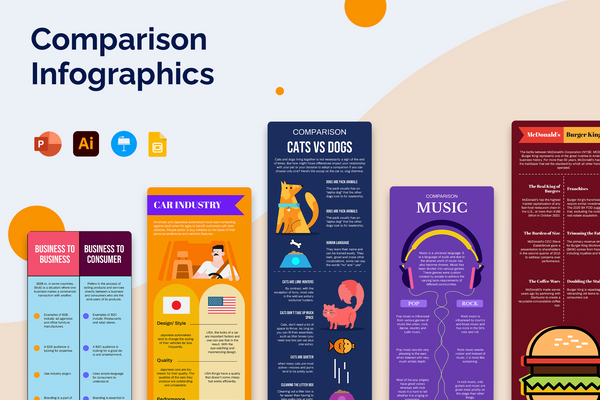 Comparison Vertical Infographic Templates