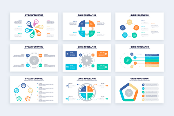Cycle Illustrator Infographics Template