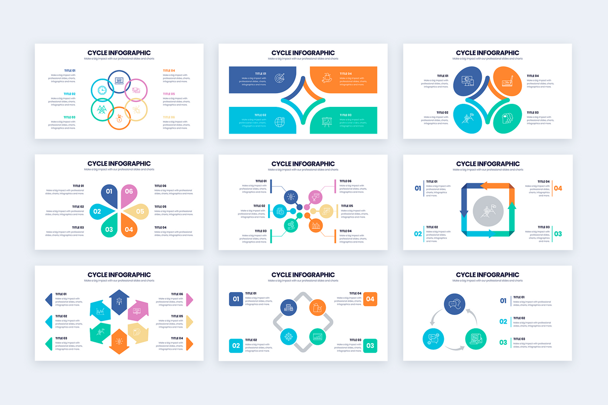 Cycle Google Slides Infographics Template
