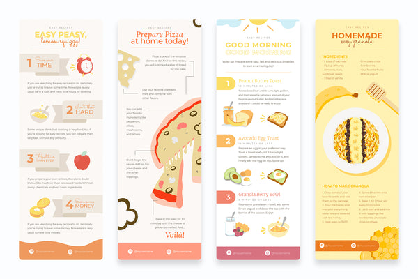 Easy Recipes Vertical Infographics