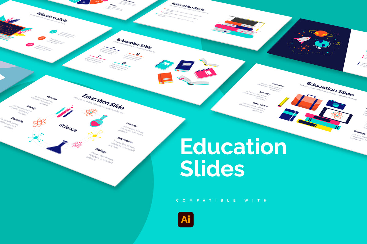 Education Illustrator Infographics
