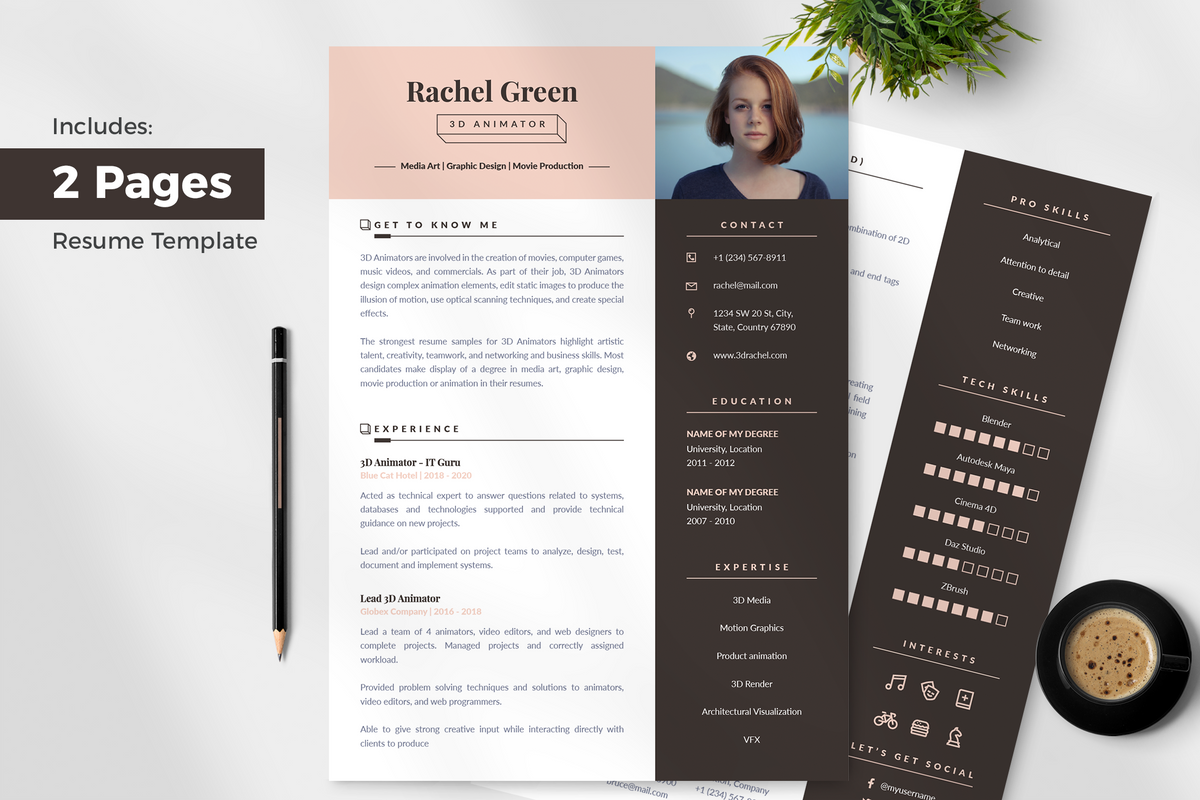 Ella Resume Template + Cover Letter