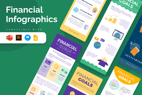 Financial Vertical Infographics
