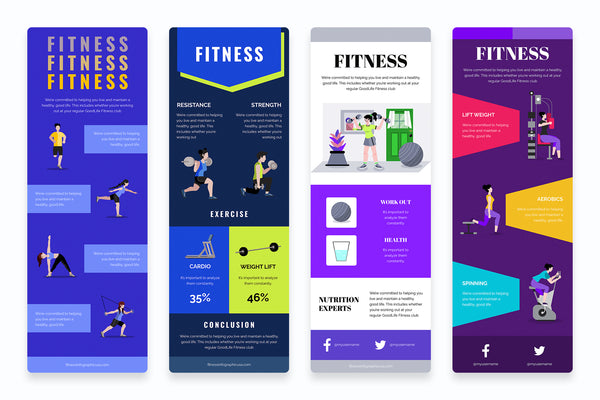Fitness Vertical Infographics