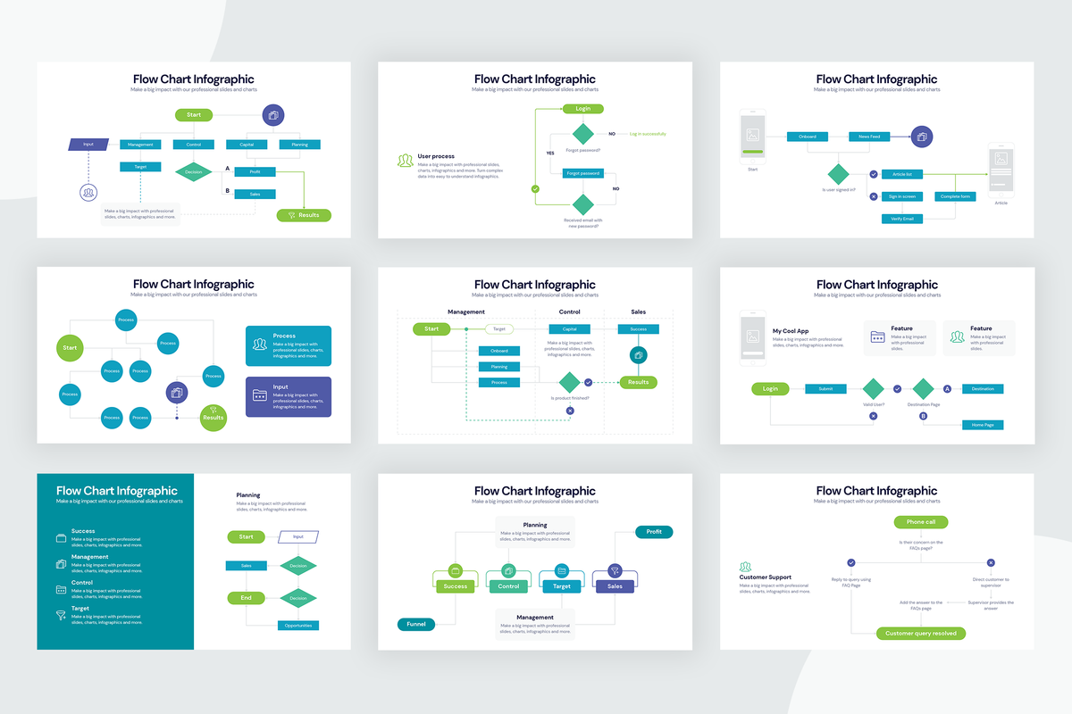 Flow Chart Infographic Templates