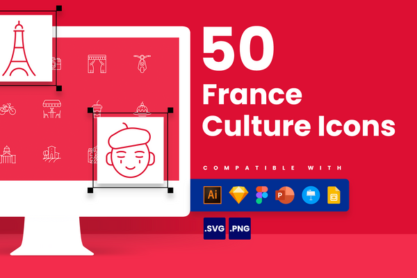 France Culture Icons