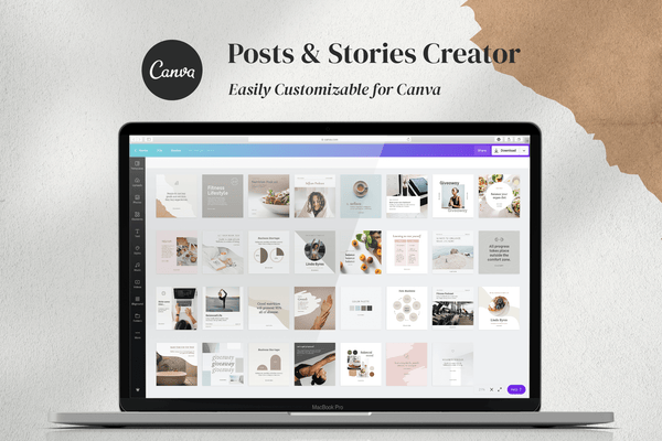 Insta Coach Creator Bundle for CANVA & Photoshop