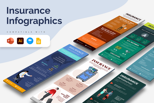Insurance Vertical Infographics