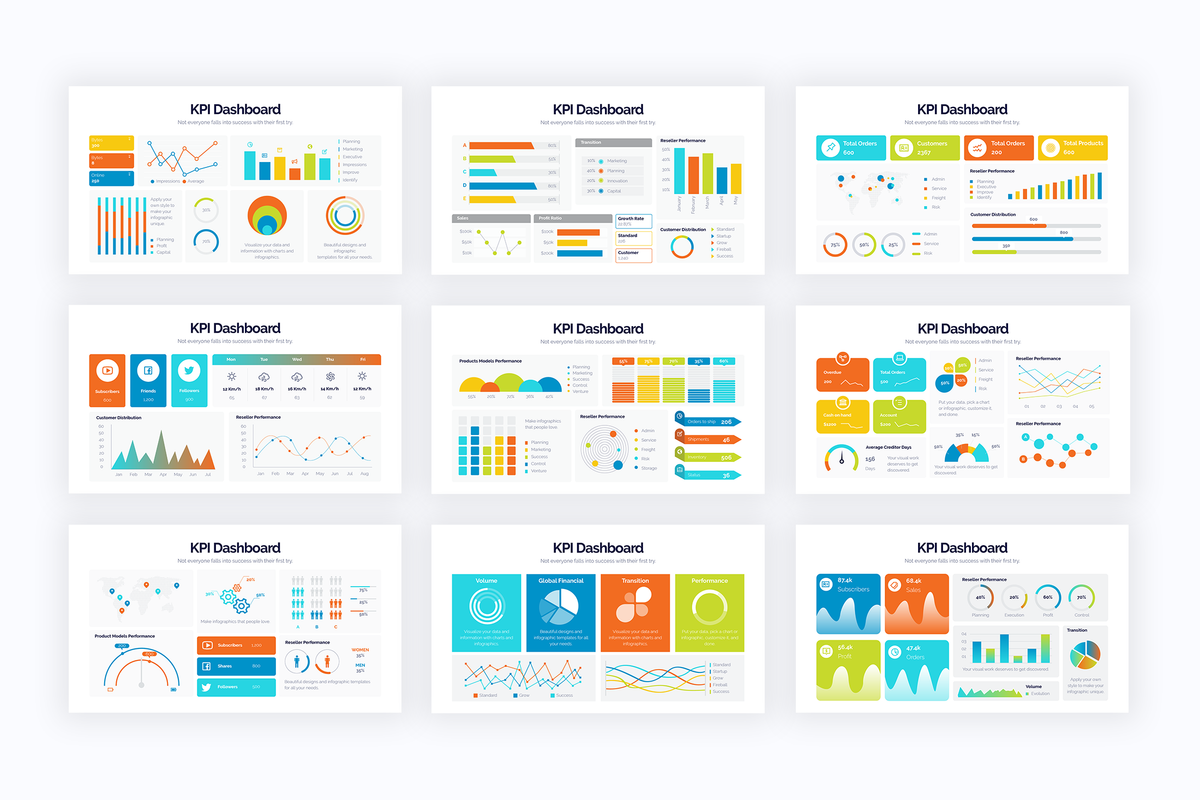 KPI Google Slides Infographics