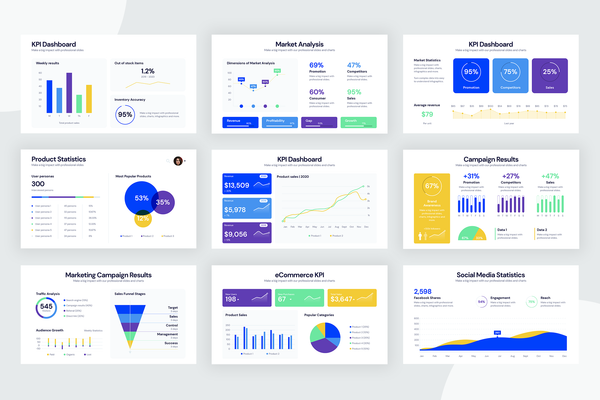 KPI Dashboard Infographic Templates
