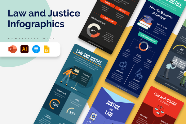 Law And Justice Vertical Infographics