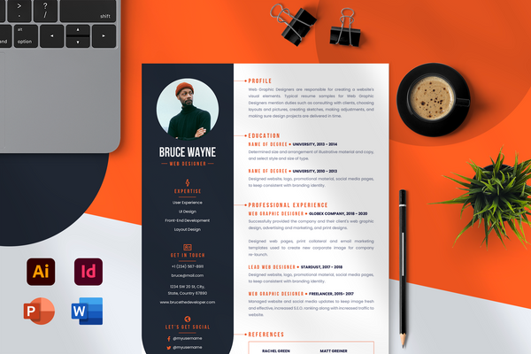 Leo Resume Template + Cover Letter