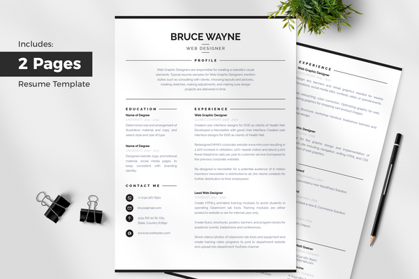 Mila Resume Template + Cover Letter