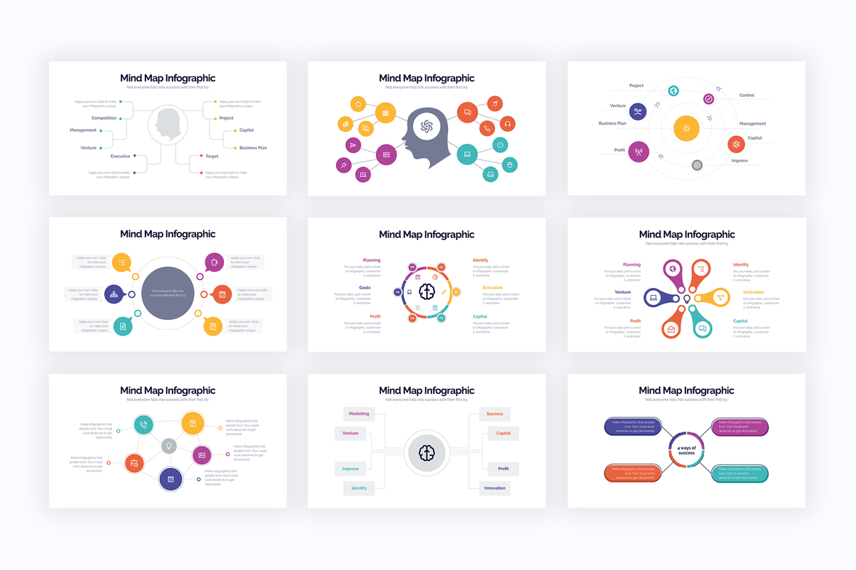 Mind Map Powerpoint Infographics